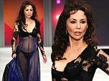 Marie Helvin on the catwalk at the Lingerie London fashion show and gala at the Old Billingsgate Market