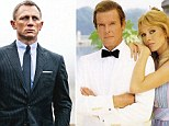 Double agents: Daniel Craig as Bond in Skyfall, left, and Roger Moore, right, in his last Bond film A View To Kill with Tanya Roberts in 1985