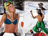 Ski instructors peel off their thermals for raunchy calendar shoot in the snow