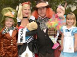 Mad about Hattie: Tori Spelling is in Wonderland as she throws lavish party to celebrate daughter's first birthday