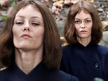 She's still got it: Vanessa Paradis shows off THOSE cheekbones as she gets into character on the set of her new film