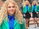 Anna Sophia Robb on location for the Carrie Diaries in NYC