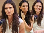 'Finally I get to yell!' Katie Holmes displays her versatility with a variety of facial expressions as she talks about motivation for new Broadway role
