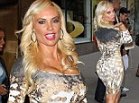 She'll fit right in! Coco Austin goes for some Las Vegas style in a VERY tight patterned dress ahead of Peepshow debut