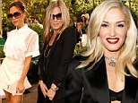 Gwen Stefani is best UN-dressed at Vogue event as she flashes bra... (and leaves Victoria Beckham and Jennifer Aniston in the shade)
