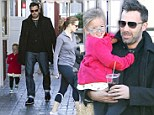 Ben and Jen take smiling Seraphina to breakfast where she flaunts her new blue glasses