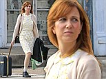 Frumpy for film role: Kristin Wiig filmed a scene for her new movie Hateship, Friendship on Tuesday looking anything but glamorous