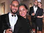 Swizz Beatz and his wife recording artist Alicia Keys attend Haute Living Honors