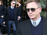 Daniel Craig looked every inch his James Bond character as he left the Georrges V hotel in Paris on Thursday