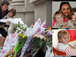 Brave: Six-year-old Lucia Krim tried to fight off her crazed nanny as the woman allegedly stabbed her and her brother Leo, 2, repeatedly with two kitchen knives
