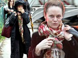 Vanessa Paradis on the set of Fading Gigolo in New York