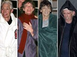 Betraying their collective age of 273, the Rolling Stones donned dressing gowns and scarves to ward off the chill after their intimate Paris gig
