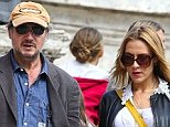 Split: Liam Neeson and Freya St. Johnston were seen holding hands in Rome just two weeks ago