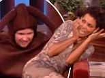 It's behind you! Halle Berry is spooked by giant spider on Ellen DeGeneres' show