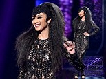 ¿I just wanted to wear something simple!¿ The X Factor¿s Nicole Scherzinger steals the show on Halloween night with a VERY daring sheer catsuit