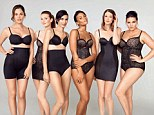 Marks & Spencer use models to promote the retailer's Sexy Shapewear range - and all of them look perfect