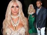 Kim Kardashian dresses up as a mermaid and Kanye West attend a Midori event in NYC