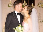 You may now kiss the bride: Justin and Jessica pucker up in an exclusive wedding photo from their $6.5million nuptials held over a weekend in Italy