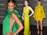 Rosie Huntington-Whiteley is a cut above the rest as she outshines Cameron Diaz and Amy Adams in a VERY risqué dress