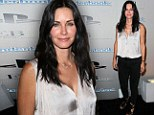 She's glowing! Courteney Cox keeps things understated and opts for simple and sweet outfit for Hollywood party