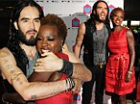 She needs Help! Lecherous Russell Brand wraps his arms round Viola Davis at charity gala