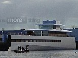 Sleek: The yacht's design is simple and elegant -- reminiscent of Jobs' Apple stores
