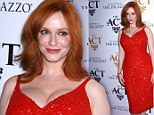Red-dy, steady, GO! Curvy Mad Men beauty Christina Hendricks is a knockout in scarlet as she opens club in Sin Cit