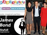 Unlicensed to sell! Middletons risk wrath of Bond producers with their 007-themed party