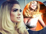 Busting out! Kate Upton flaunts her substantial cleavage in bra for upcoming V Magazine shoot