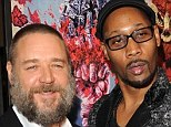 There can be only one: Russell Crowe and RZA indulged in a battle of the beards at the New York premiere of The Man With Iron Fists in New York on Saturday