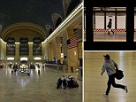 Grand Central Station on 42nd Street, Manhattan was eerily deserted as the NYPD patrolled to make sure every passenger had left ahead of the mass transit shutdown for Hurricane Sandy