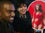 'Don't be looking at her a**!' Kris Jenner scolds Kanye West for checking out Kim Kardashian's famous derriere... 16 months before they started dating
