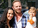 Baby on the way: Ian Ziering and his wife Erin are happily expecting another child. They treated their daughter, Mia, 18 months, to a day at Mr. Bones Pumpkin Patch in West Hollywood October 6