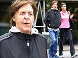Day Tripper: Nancy Shevell ditches the high heels and steps out in comfortable trainers as she enjoys a walk with Sir Paul McCartney