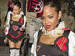 Queen of breaking hearts! Christina Milian wows in sexy Alice In Wonderland inspired outfit at Matthew Morrison's Halloween party
