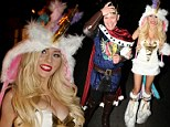 Unicorns aren't supposed to be sexy! Courtney Stodden shows her wild side in tiny costume at Halloween party with Doug