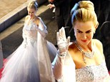Beauty and Grace: Nicole Kidman bears uncanny resemblance to Grace of Monaco as she shoots biopic in fairy-tale ballgown