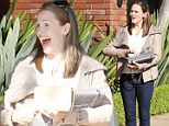Her new favourite jeans! Jennifer Garner wears the same denim skinnies two days in a row as she enjoys another lunch date