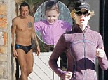 Two very different days: Nicole Kidman heads out for a run as husband Keith Urban slips into some Speedos to spend day by the pool with daughter Sunday