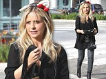 Bunny day: Sarah Michelle Gellar gets into the Halloween spirit and drops off daughter at school wearing a pair of furry ears
