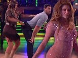 Cheeky Kirstie Alley ramps up the raunch on Dancing with the Stars as she administers a slapping to partner Maksim's behind