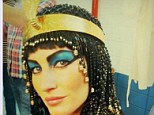 Just like Liz: Gisele's regal queen was clearly inspired by movie star Elizabeth Taylor's 1963 rendition as the brunette stunner is seen in the same iconic blue eyeshadow and braided black wig