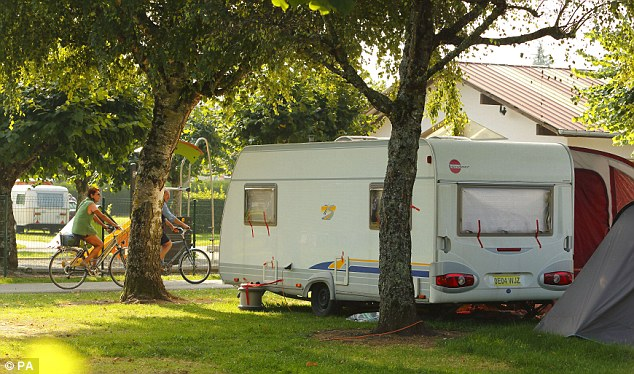 The family left Europa after two nights and moved to the La Solitude du Lac campsite, which overlooks Lake Annecy