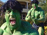 'You wouldn't like me when I'm angry!' The Rock channels The Hulk for Halloween... and doesn't even need a padded suit