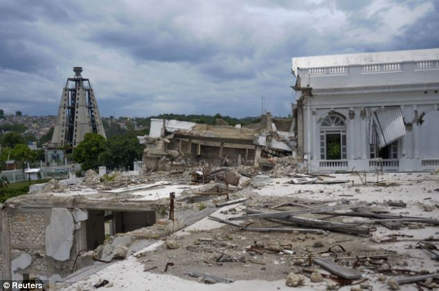 A view from the roof of Haiti's collapsed National Palace in Port-au-Prince