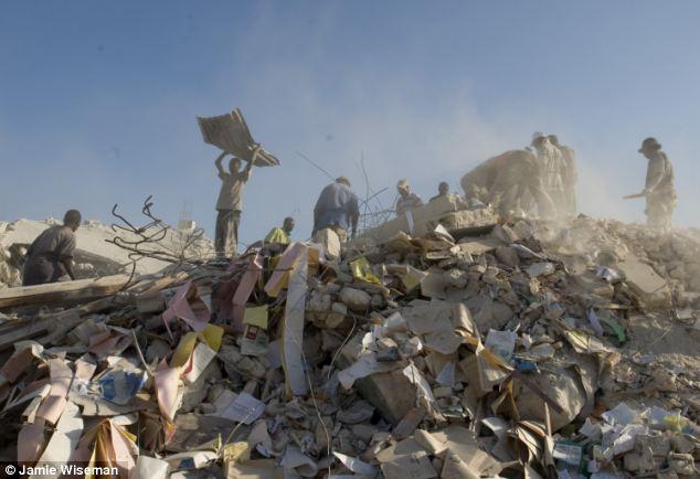 Earthquake damage in downtown Port Au Prince, Haiti