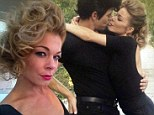 Leanne Rimes and her husband Eddie Cibrian dressed as Danny and Sandy from Grease for Halloween