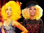 Champion! Miley Cyrus pays the ultimate compliment to Nicki Minaj by dressing up as the colourful star for Halloween