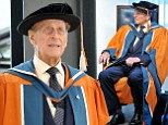 Prince Philip enjoys a fun return to university to collect honorary degree in recognition of naval service