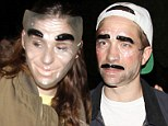 Twilight pair Robert Pattinson and Kristen Stewart go incognito in transparent masks at Halloween party